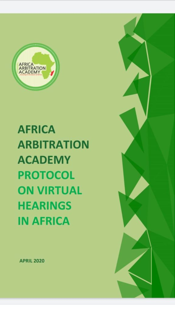 Africa Arbitration Academy Protocol on Virtual Hearings in Africa April 2020